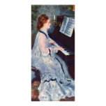 Woman At The Piano By Pierre-Auguste Renoir Customized Rack Card