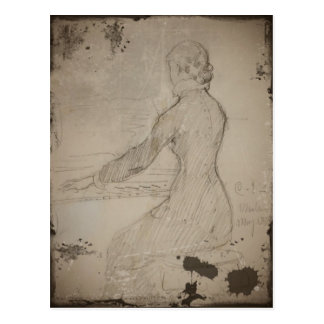 Woman at the Piano (Dam Vid Piano) Postcard