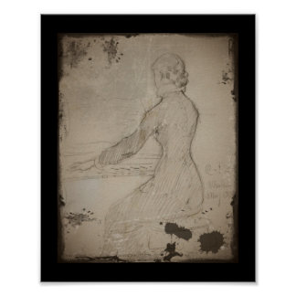 Woman at the Piano (Dam Vid Piano) Posters