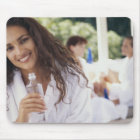 Woman at the spa 2 mouse pad