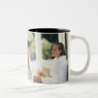 Woman at the spa 2 Two-Tone coffee mug