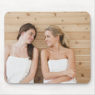 Woman at the spa mouse pad