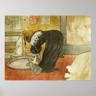 Woman at the Tub by Henri de Toulouse-Lautrec Poster