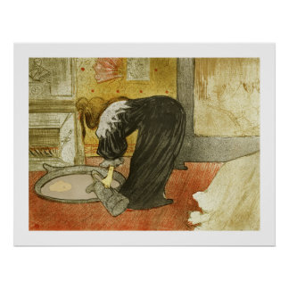 Woman at the Tub by Toulouse-Lautrec Poster