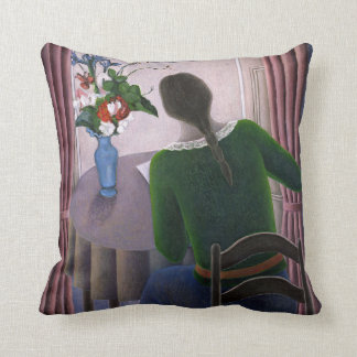 Woman at Window 1998 Throw Pillow