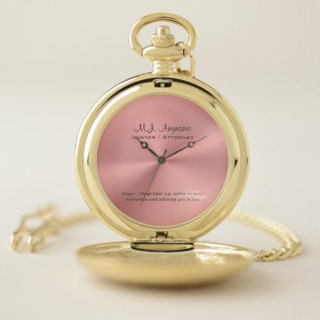 Woman Attorney luxury rose pink with Justice Quote