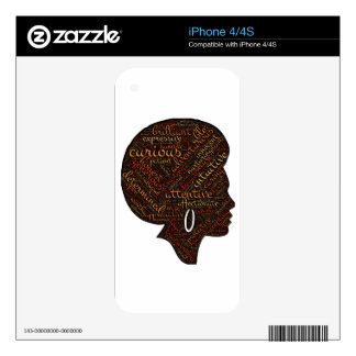 woman attri decal for the iPhone 4S