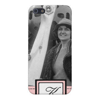 Woman Aviator Fashion iPhone 4 Case with Monogram