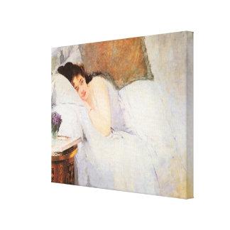 Woman Awakening, 1876 (oil on canvas) Canvas Print