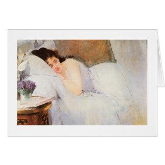 Woman Awakening, 1876 (oil on canvas) Card