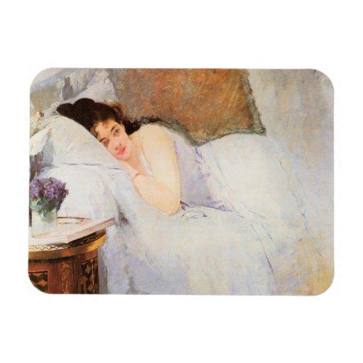 Woman Awakening, 1876 (oil on canvas) Vinyl Magnets