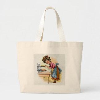 Woman Baking Pies Tote Bag