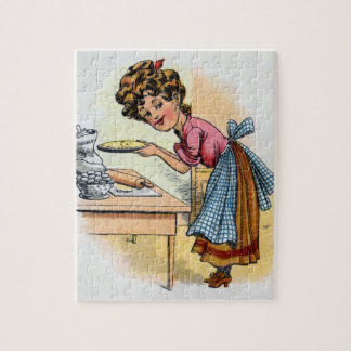 Woman Baking Pies Jigsaw Puzzle