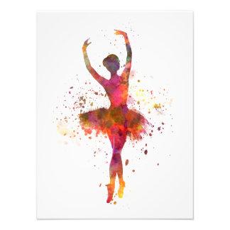 Woman ballerina ballet dancer dancing fotografía