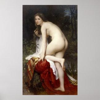 Woman Bathing (Baigneuse) by Bouguereau Print