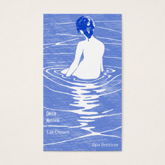Woman Bathing in Onsen Business Card