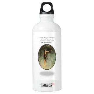 Woman Bathing in Water Water Bottle