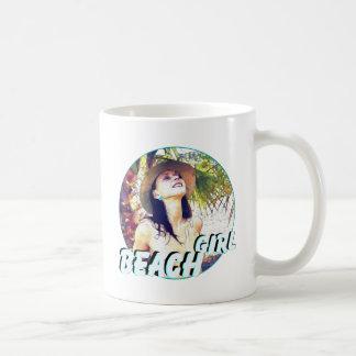 Woman beach girl relaxing vacation mugs