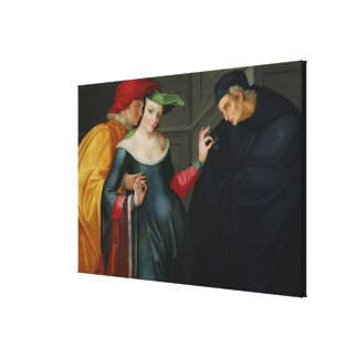 Woman Between Two Ages Canvas Print