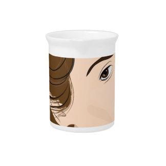 woman beverage pitchers