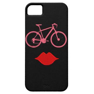 woman bike mouth iPhone SE/5/5s case