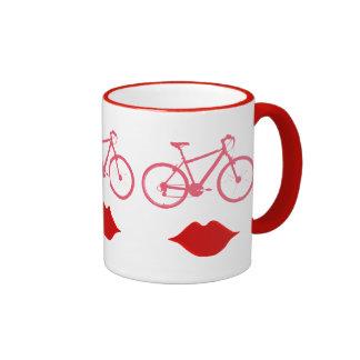 woman bike mouth ringer mug