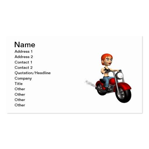Woman Biker 4 Business Card