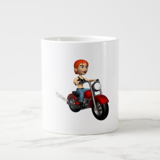Woman Biker 4 Giant Coffee Mug