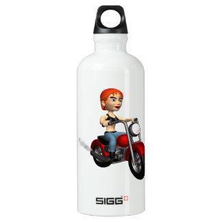 Woman Biker 4 Water Bottle