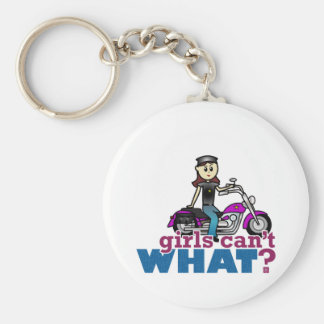 Woman Biker Keychain