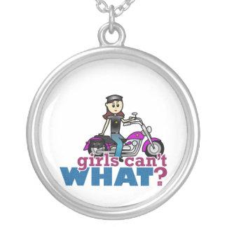 Woman Biker Custom Jewelry