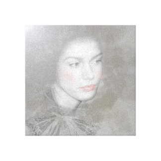 Woman-Black and White Canvas Print