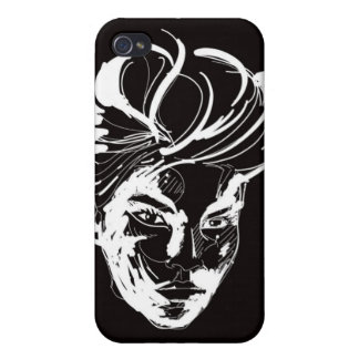 Woman black & white case for iPhone 4