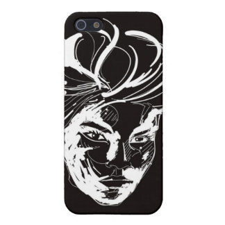 Woman black & white iPhone 5 cases