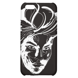Woman black & white iPhone 5C cases