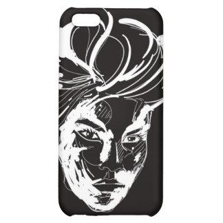 Woman black & white iPhone 5C cases