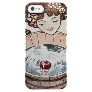 Woman Bobbing For Apples Halloween Party Clear iPhone SE/5/5s Case