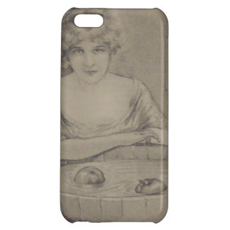 Woman Bobbing For Apples Halloween Party iPhone 5C Cover