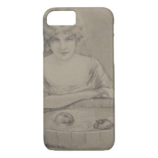 Woman Bobbing For Apples Halloween Party iPhone 7 Case