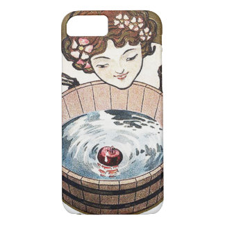 Woman Bobbing For Apples Halloween Party iPhone 8/7 Case