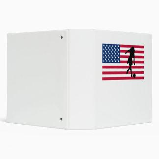 Woman Bowler American Flag Vinyl Binder