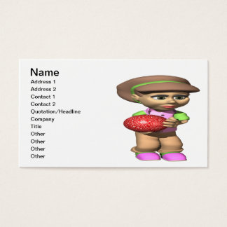 Woman Bowler Business Card