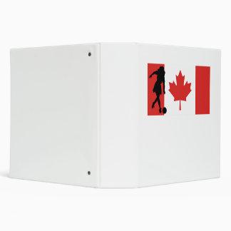 Woman Bowler Canadian Flag Binder