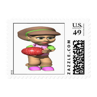Woman Bowler Postage Stamp