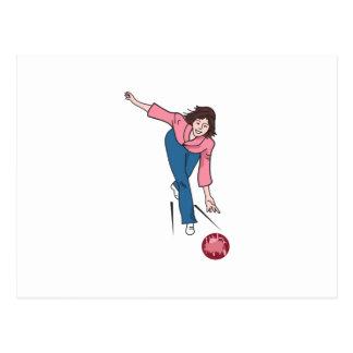 Woman Bowler Postcard