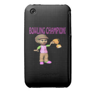 Woman Bowling Champion iPhone 3 Cases