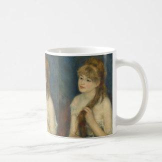 Woman Braiding Her Hair Coffee Mug