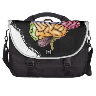 Woman brain concept laptop shoulder bag