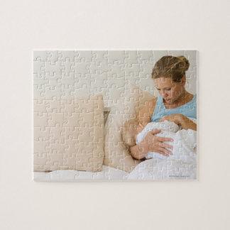 Woman breastfeeding baby jigsaw puzzles