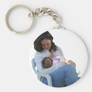 Woman breastfeeding keychain